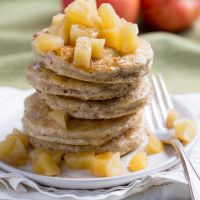Cinnamon-Apple Pancakes made with Haylie's baking mix are delicious and filling, with a 2-minute microwave apple compote to complete this incredible Phase 1 breakfast.