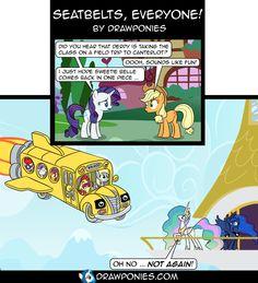 Comic: Seatbelts, Everyone! by drawponies.deviantart.com on @deviantART
