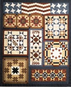 1-American Heritage Block of the Month... I so need to do a Texana version of this
