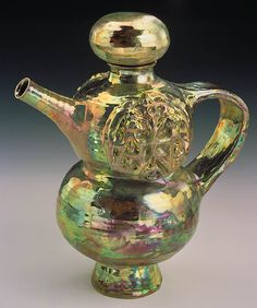 Beatrice Wood Gallery | Gold Lustre Teapot by Beatrice Wood / American Art
