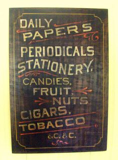 Another antique sign