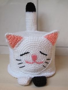 Klopapierhut lustige Katze von Isselaue auf DaWanda.com