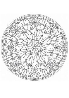 Mandala coloring pages. there are a ton of them. I think I'll print some and color them when I'm bored.