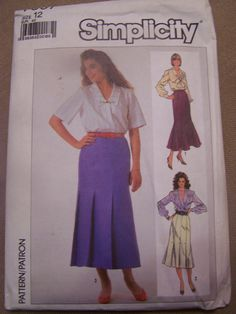 Simplicity7857, size 12, UNCUT sewing pattern, misses', womens, skirts, craft supplies