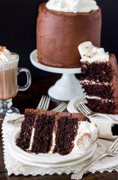 hot chocolate cake -