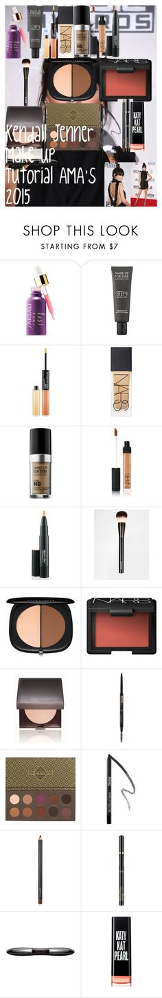 """""""Kendall Jenner Make Up Tutorial AMA's 2015"""" by oroartye-1 on Polyvore featuring beauty, MAKE UP FOR EVER, MAC Cosmetics, NARS Cosmetics, NYX, Marc Jacobs, Laura Mercier, Anastasia Beverly Hills, ZOEVA and L'Oréal Paris"""