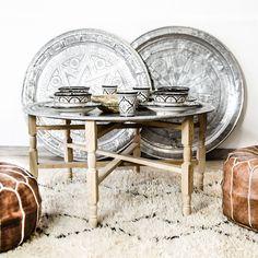 Marokkolainen tarjotin- ja tarjotinjalat, 95cm #arabiannight #arabian #plate #tableware #pouf #zocohome #interior