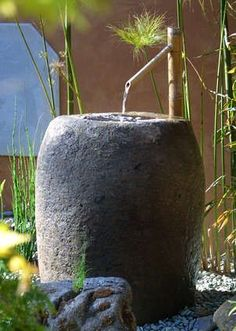 japanese water features for the garden Japanese Garden Design for Beginners Outdoor Water Features, Water Features In The Garden, Asian Landscape, Landscape Design, Backyard Retreat, Backyard Landscaping, Backyard Patio, Landscaping Ideas, Japanese Water Feature