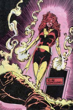 Jean Grey - Dark Phoenix by John Romita Jr. and Paul Smith Marvel Comics Art, Fun Comics, Marvel Heroes, Ms Marvel, Captain Marvel, Punisher Marvel, Wolverine, Jean Grey Phoenix, Dark Phoenix