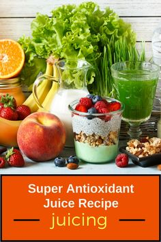 Interested in juicing for detox? The natural juicing ingredients provide powerful antioxidant benefits. Click through for a quick and easy super antioxidant juice recipe!