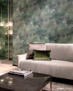 Moderne palme tapet - Perfekt til en stilren nordisk indretning!