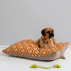 DENY Designs Aimee St. Hill Leela Orange Pet Bed, 40 by 30-Inch ** For more information, visit image link.