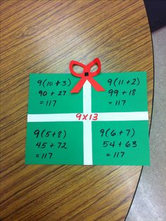 Distributive property, creative way to teach it. (Image Only)