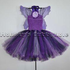 f451939aa6f Crochet Baby Maleficent Costume Dress Tutu Hat Beanie Staff Set Infant  Newborn Baby Toddler Child Handmade Baby Shower Gift Present