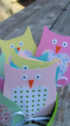 My owl cupcake toppers