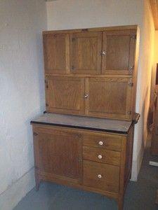 vintage kitchen hoosiers | Antique Hoosier Kitchen Cabinet with Porcelain Countertop | eBay
