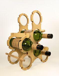 Standard Wine Rack (6 Bottles Set), Natural & Colour