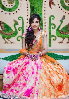 Glitzy and glamorous Indian bride. http://www.maharaniweddings.com/gallery/photo/139368