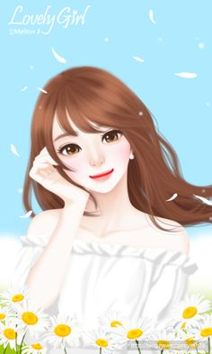 Find images and videos about girl, cute and lovely girl on We Heart It - the app to get lost in what you love. Beautiful Girl Drawing, Cute Girl Drawing, Beautiful Fantasy Art, Cute Drawings, Cartoon Girl Images, Cute Cartoon Girl, Cartoon Art, Cute Girl Hd Wallpaper, Lovely Girl Image