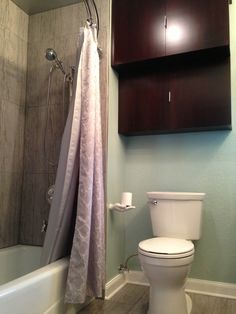 Agreable Vasquez Design Projects · Del Monte Project   Master Bathroom  Cool Color  Palette, Curved Double Shower Rod,