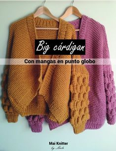 Cardigan Grande, Big Cardigan, Pullover, Knitting, My Style, Sweaters, Knits, Google, Crocheting