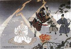No momento que o Kaishakunin ia decapitar o Bodhisatwa Joguio, o Nichiren Daishonin Sama revelou sua verdadeira identidade e um objeto luminoso veio do céu e decepou a espada do verdugo!