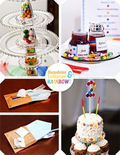 Love the candy in the tiered cake stands! #candyland #birthday #party #ideas #cake #stands