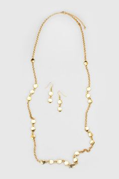 Golden Leila Necklace on Emma Stine Limited