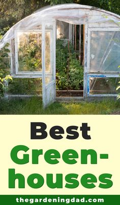 There are so many greenhouses out there for different types of gardening that choosing the best can feel overwhelming. Check out the Best Greenhouses buyers guide to make the right choice for you! Small Greenhouse Kits, Outdoor Greenhouse, Best Greenhouse, Greenhouse Gardening, Gardening Tips, Greenhouse Ideas, Rustic Greenhouses, Greenhouse Interiors, Garden Structures