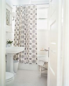 Small hexagon tiles with a non-claw tub! It can be done without a 1920's house