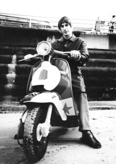 Paul Weller 9 The Jam Mods Scooter Canvas Art Poster - Love Cars & Motorcycles Mod Scooter, Lambretta Scooter, Scooter Girl, Vespa Motorcycle, Quad, The Style Council, Italian Scooter, Paul Weller, Mod Fashion