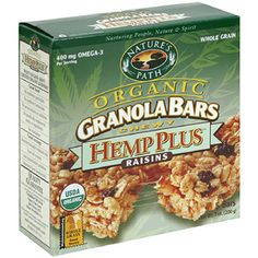 Nature's Path Organic Sunny Hemp Granola Bars, 7.4 oz, 6ct. This help is edible and is part of USDA Organic certified granola bars.  It costs $25.01 for 6 boxes of granola bars. It is made out of Organic hemp seeds, sunflower seeds, whole grain oats and flaxseeds.