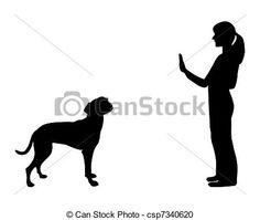 chien, formation, (obedience):, commande, arrêt - csp7340620