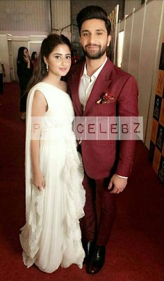 Sajal and Ahad Celebrity Couples, Celebrity Pictures, Pakistan Movie, Famous Celebrities, Celebs, Sajjal Ali, Stylish Girl Images, Cute Actors, Cute Couple Pictures