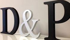 Set de letras decorativas Dos letras un por LETRASSIMBOLOSYMAS