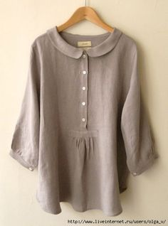 LINNET Linen blouse リネンブラウス This would look terrible on me but it's beautiful. Plus Size Casual, Casual Tops, Comfy Casual, Linen Blouse, Linen Tunic, Mode Outfits, Chic Outfits, Linen Dresses, Cotton Dresses