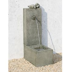 Outfit your backyard with peaceful serenity with the Campania International Bird Element Cast Stone Outdoor Fountain . This durable fountain is constructed. Water Wall Fountain, Bird Fountain, Garden Water Fountains, Outdoor Fountains, Fountain Garden, Garden Ponds, Fountain Ideas, Concrete Fountains, Stone Fountains