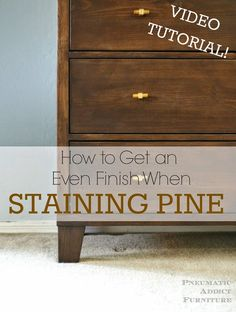 The best DIY projects & DIY ideas and tutorials: sewing, paper craft, DIY. DIY Furniture Plans & Tutorials : Pneumatic Addict : How to Get an Even Finish When Staining Pine -Read Pine Wood Furniture, Diy Furniture Plans, Furniture Makeover, Furniture Refinishing, Painting Furniture, Cabin Furniture, Bedroom Furniture, Modern Furniture, Staining Pine Wood