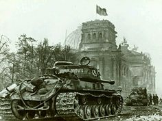 Russian tanks, Berlin 1945