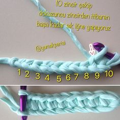 Dikdörtgen sepet tabanı yapımı 1-- @yumakperisi #dikdörtgentaban #penyeip #penyesepet #crochetbasket #zpagetti #tshirtyarnbasket #tshirtyarn #sepetşeması #örgümodelleri #crochetpattern