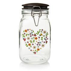 Folk Clip Top Jar Multi Heart- Wilkinsons- £5.00 Use these for tea, sugar, coffee jars :-)