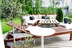 Terrace // patio // garden // ikea äpplarö // olivträd //