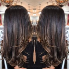 63 Ideas hair color ombre summer brunettes - All For Hair Color Balayage Balayage Hair Blonde, Brunette Hair, Summer Brunette, Black Hair With Balayage, Balayage Hair Brunette Caramel, Soft Balayage, Honey Balayage, Long Brunette, Brunette Color
