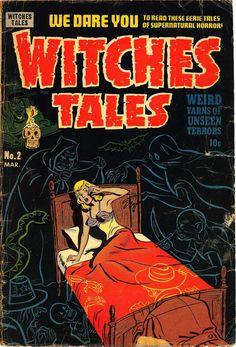 Digital Comic Museum Viewer: Witches Tales 002 -fixed… Horror Comics, Creepy Comics, Sci Fi Comics, Fantasy Comics, Fantasy Art, Horror Themes, Horror Stories, Sexy Horror, Gothic Horror