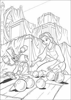 Disney Valentine Coloring Pages Kids