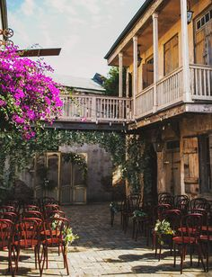 Ceremony location in New Orleans. Love this. Reminds me of New Orleans Square in Disneyland.