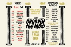 2014 Groovin The Moo set times released