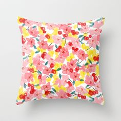 Spring floral Throw Pillow by Frameless - $20.00
