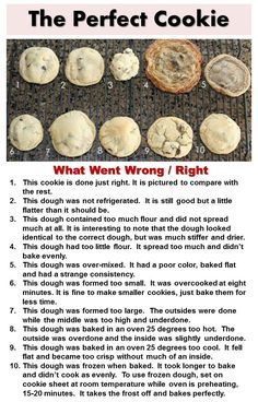 In Search of the Perfect Cookie. . . Tips