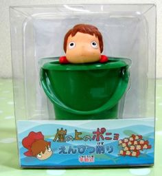 7 left - Pencil Sharpner - Ponyo in Bucket - Ghibli - out of production (new)